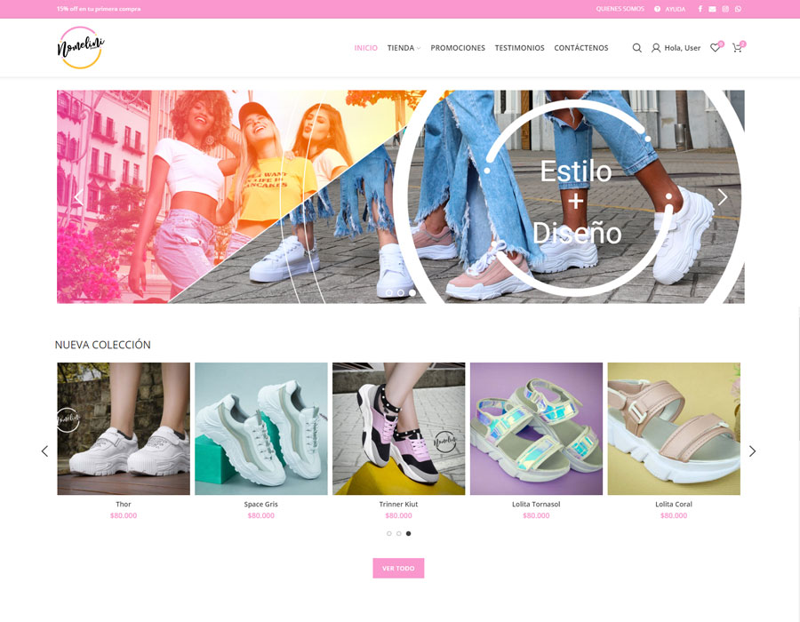 Nomelini Shoes tienda virtual